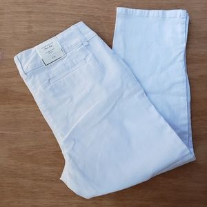 Charter Club Capri Pants White Cotton Blend